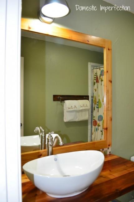 DIY rustic industrial bathroom vanity