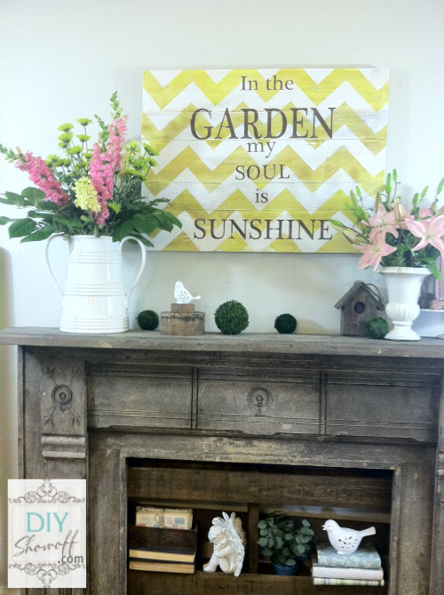 summer garden mantel