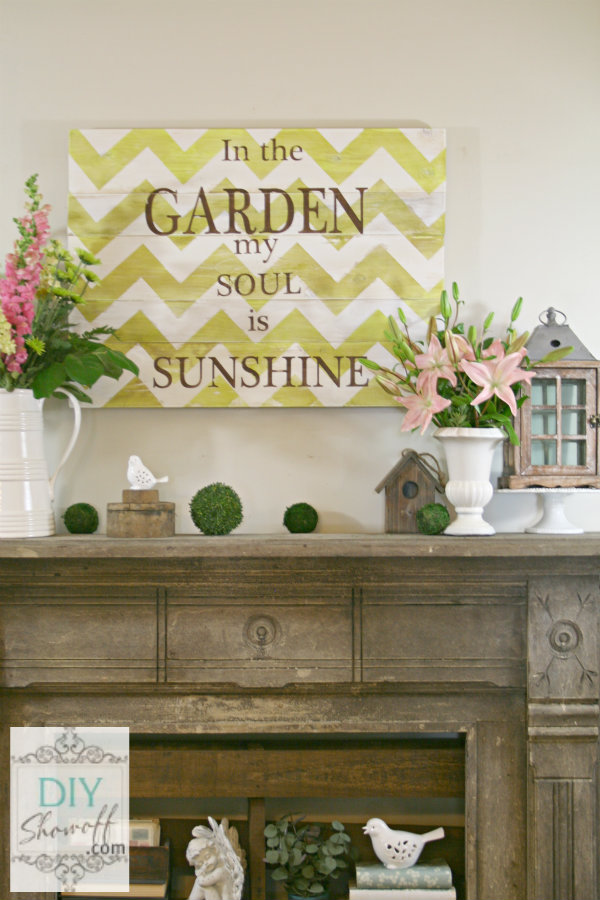 DIY chevron garden sign