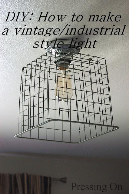 DIY vintage light fixture
