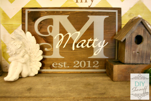 DIY established monogram sign