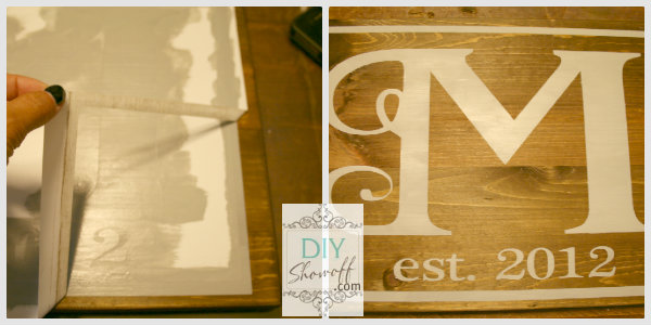 DIY monogram sign