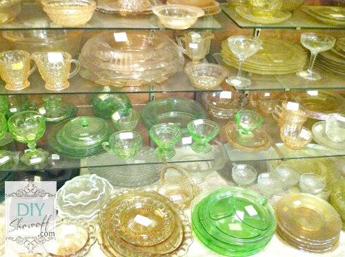 antique depression glass