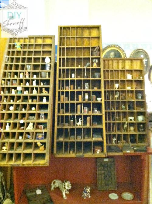 antique print shop rack
