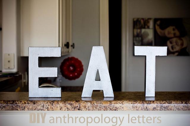 DIY anthropologie letters
