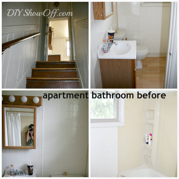 apartment bathroom before makeover