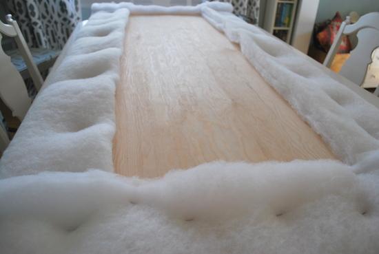 batting on plywood