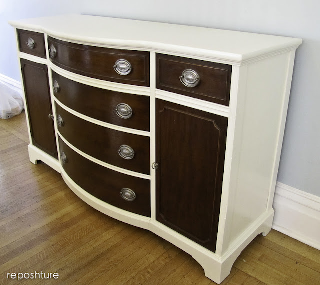 two toned buffet makeover