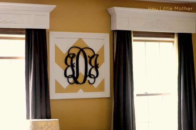 chevron monogram