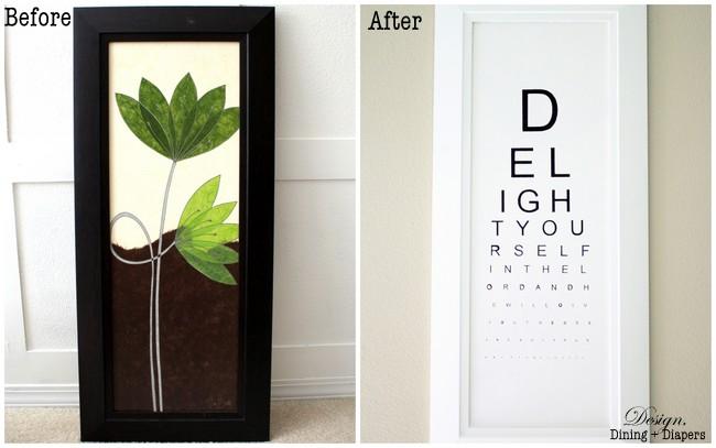 DIY eye chart art