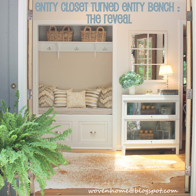 entry closet mudroom makeover
