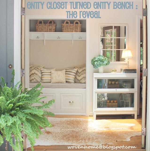 entry closet mudroom makeover