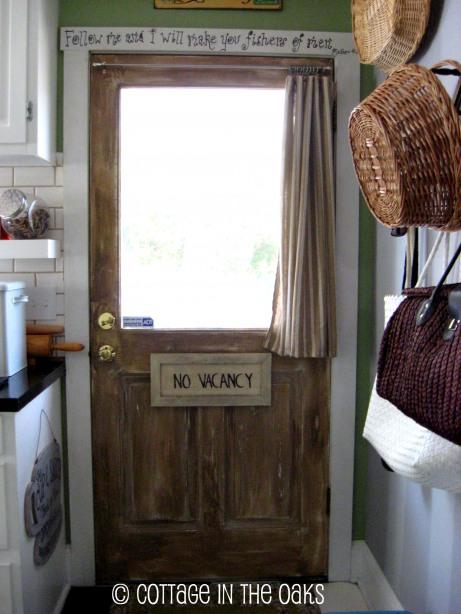 faux barnwood door