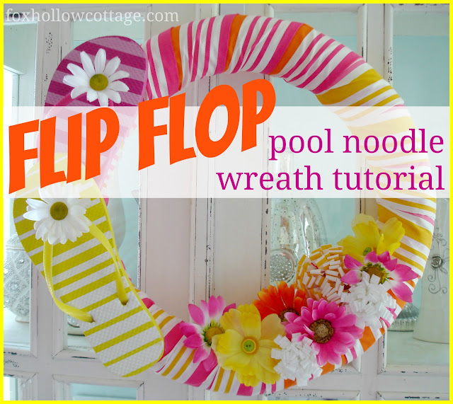 how to make pool noodle wreath