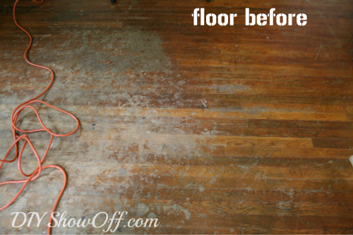 hardwood floors before
