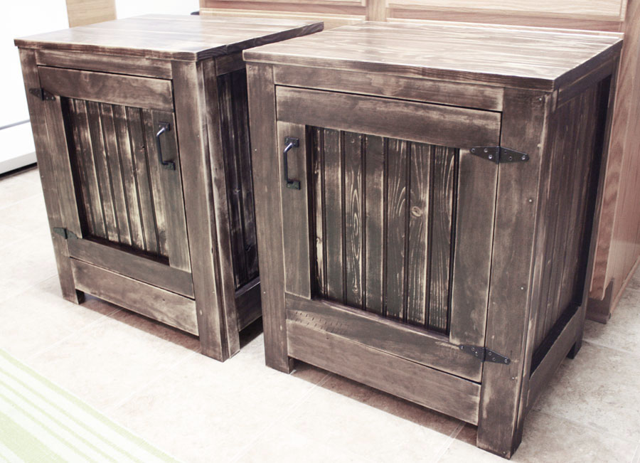 DIY restoration hardware inspired end tables