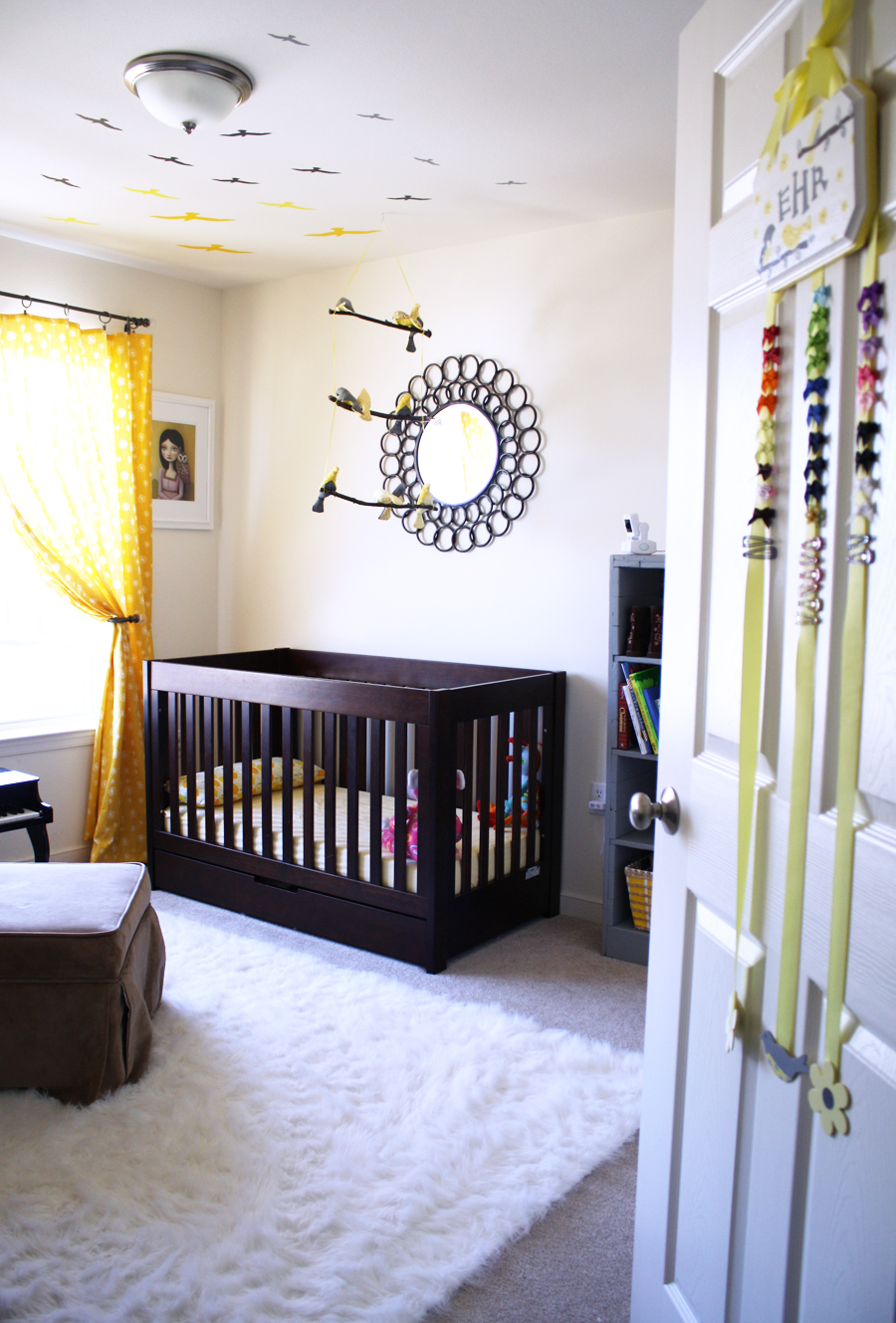yellow nursery DIY