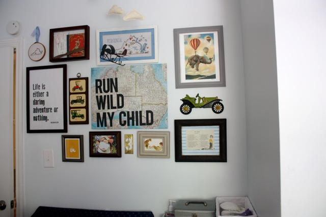 DIY travel themed nursery