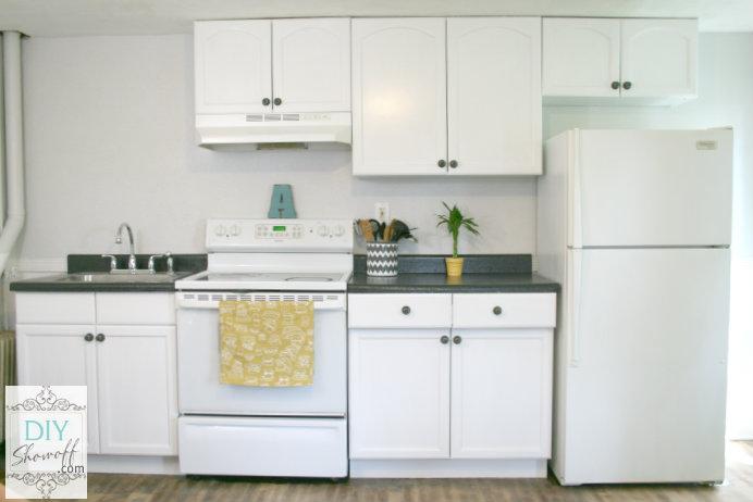 DIY apartment kitchen after