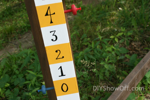 how to make a cornhole scoreboard
