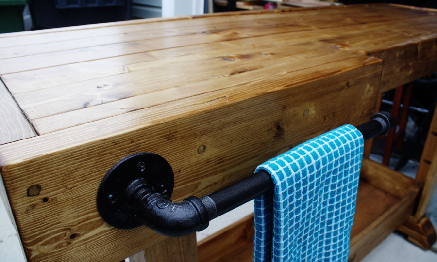 rustic DIY console table