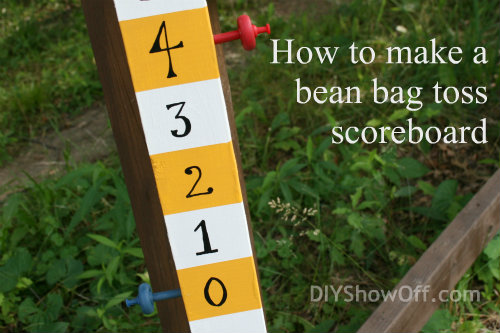 How to make a bean bag toss scoreboard