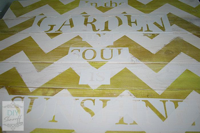 Silhouette Cameo vinyl stencil