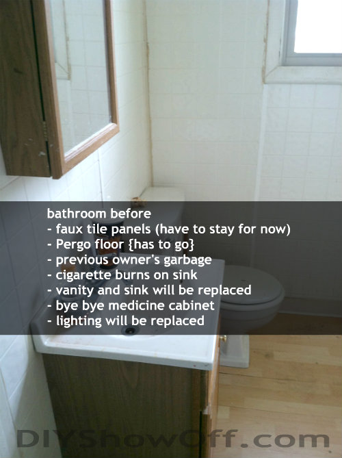 apartment bathroom before