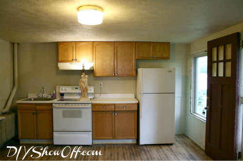 Apartment Kitchen Before. After: Rustoleum Cabinet Transformations Pure  White