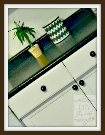 DIY countertop and cabinets