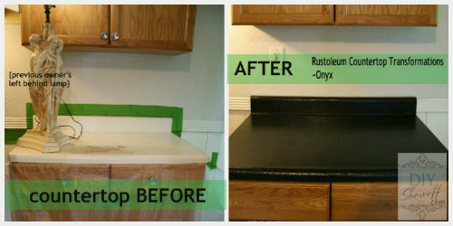 countertop before and after feature