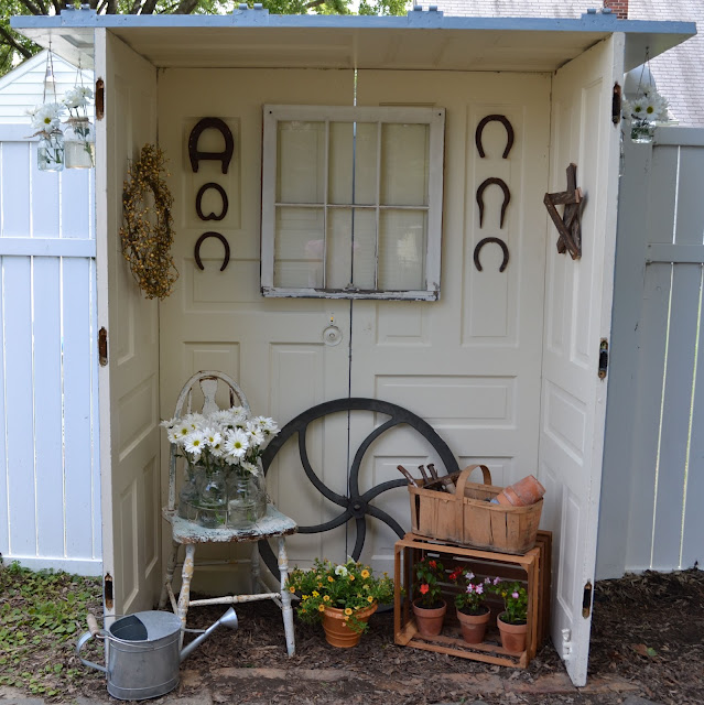 old doors turned patio