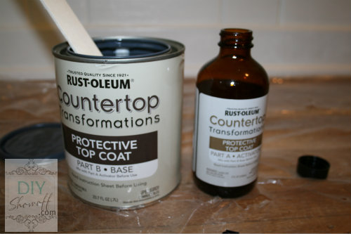 mixing Rustoleum countertop transformations
