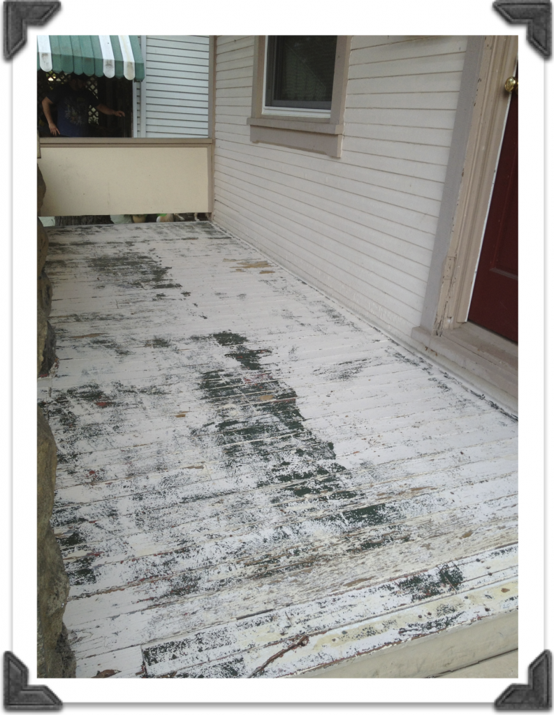 paint stripped porch