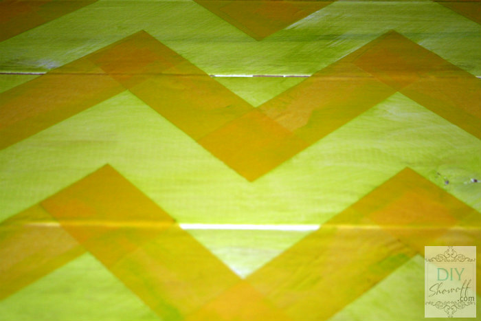 painting a chevron pattern
