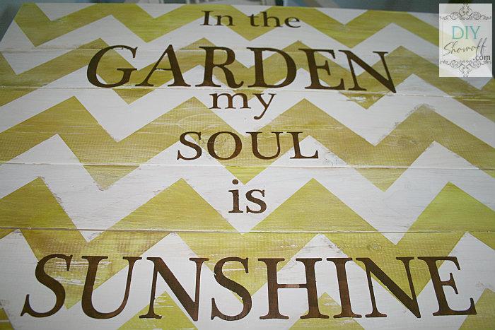 chevron garden plank sign