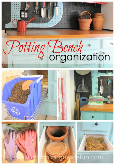 potting bench organization