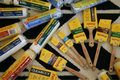 Purdy paintbrushes