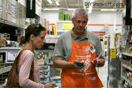 Roeshel from DIY Show Off with Mike, the Home Depot tile specialist