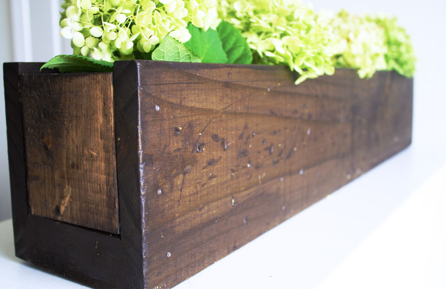 rustic planter centerpiece