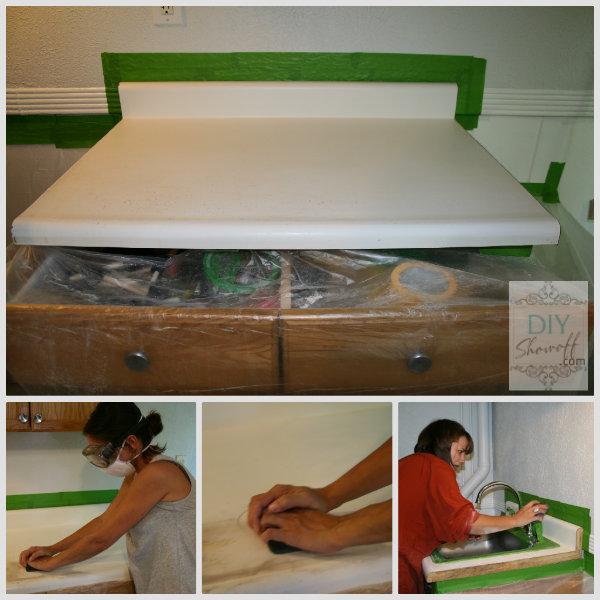 sanding laminate countertop