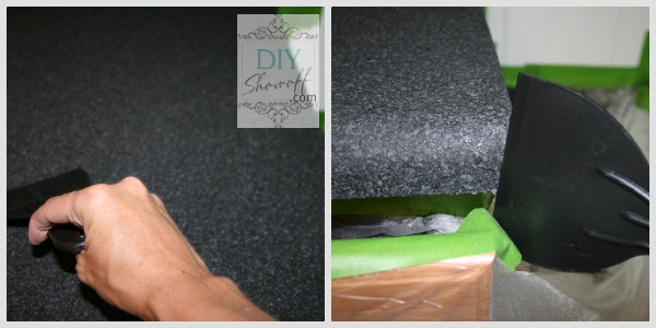 scraping decorative color chips