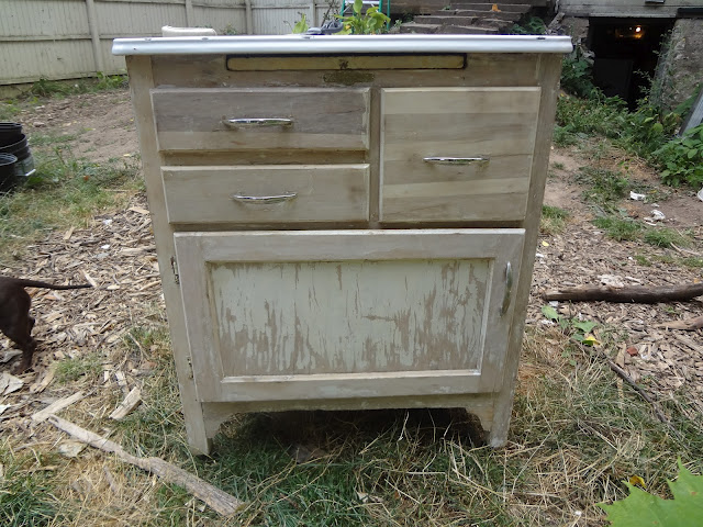 stripped cabinet