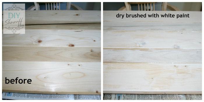 dry brush white paint