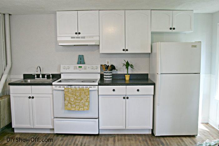rustoleum cabinet transformations white Rustoleum CabiTransformations apartment progress   DIY Show  rustoleum cabinet transformations white