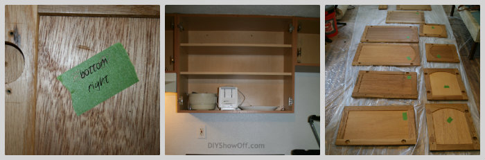 prep for painting kitchen cabinets