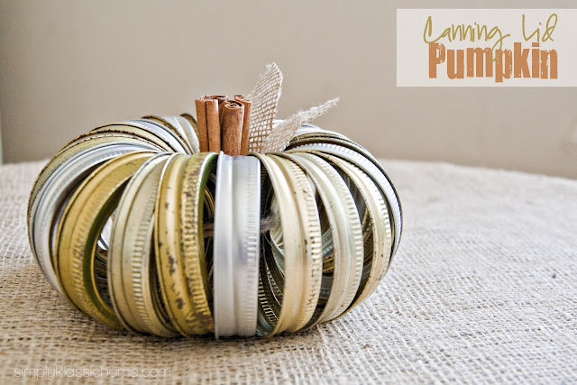 canning lid pumpkin tutorial - Diy Fall Decor