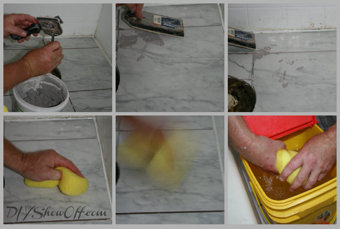grouting ceramic tile