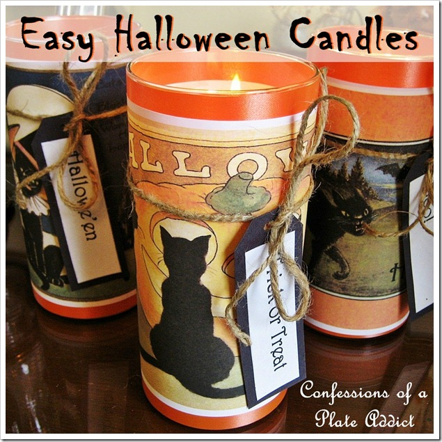 easy seasonal candle