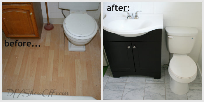 How to tile a bathroom floorDIY Show Off ™ – DIY Decorating and Home ...
